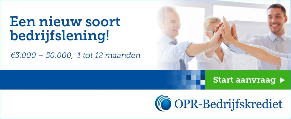 Online een bedrijfslening aanvragen bij OPR bedrijfskrediet